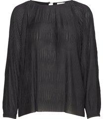 wave pliss blouse blouse lange mouwen zwart filippa k