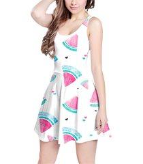 watercolor watermelon sleeveless dress