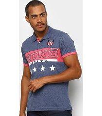 camisa polo ecko estampada manga curta masculina
