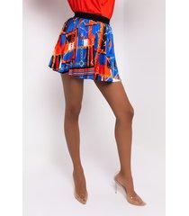 akira chic satin pleated mini skirt