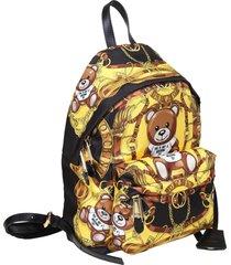 moschino nylon backpack teddy scarf