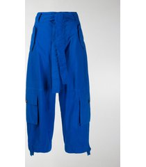 colville cropped tie waist trousers