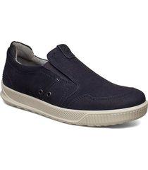 byway loafers låga skor blå ecco