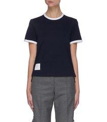 contrast hem cotton t-shirt