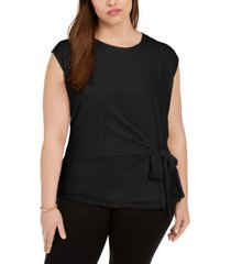 vince camuto plus size tie-side top