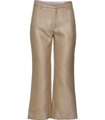 high trouser wijde broek beige hope