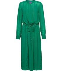 annabel solid jurk knielengte groen line of oslo