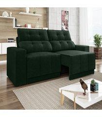 sofã¡ 4 lugares net jaguar assento retrã¡til e reclinã¡vel verde 2,30m (l) - verde - dafiti
