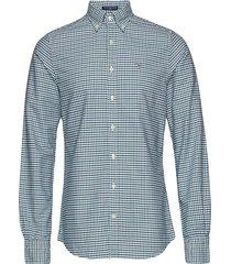 the oxford 3 col gingham slim bd overhemd casual groen gant