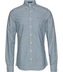 the oxford 3 col gingham slim bd overhemd casual groen gant