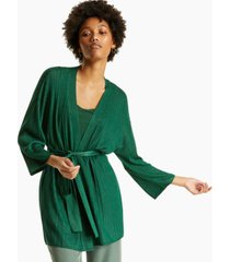 alfani ribbed belted cardigan, created for macy's
