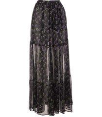 msgm floral-print skirt