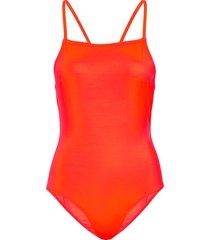 core convertable strap swimsuit baddräkt badkläder orange french connection