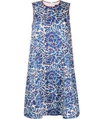 weekend max mara printed smock dress - blue