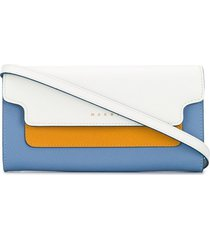 marni leather bellows wallet - blue
