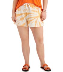style & co plus size french terry track shorts, created for macy's