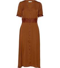 dress ss knälång klänning brun rosemunde