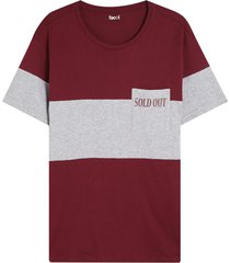 camiseta para hombre sold out color vino,talla m