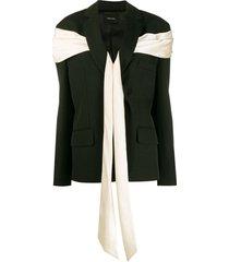 simone rocha wraparound fabric blazer - black