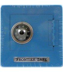 frontier safe - metal bank with combination lock - medium blue