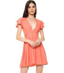 vestido coral  vespertine