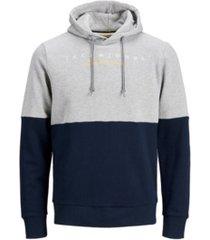 jack & jones men's color block long sleeve sweatshirt hoodie