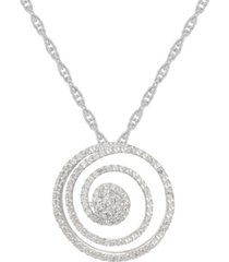 1/2 ct. t.w. round shape diamond pendant in sterling silver