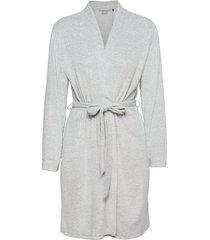jacket morgonrock grå schiesser