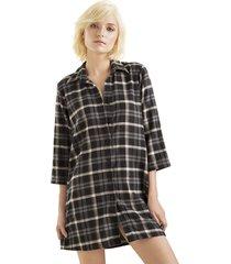 pijama camisón estampada-cuadros-options-femenino