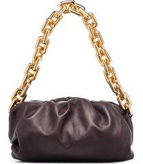 bottega veneta the chain pouch shoulder bag - purple