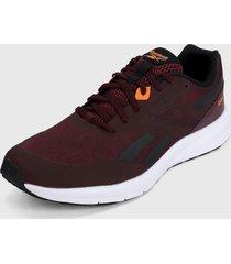 tenis running violeta-negro-naranja reebok runner 4.0