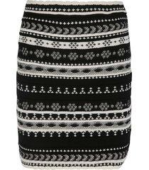 ermanno scervino stripe patterned short skirt