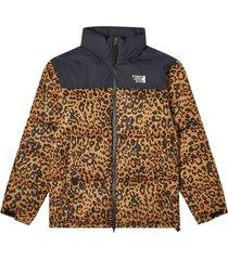 leopard print puffer down jacket