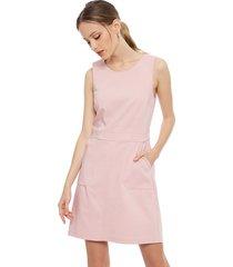 vestido ash liso rosa - calce ajustado