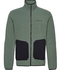 m tech soft zip fells view sweat-shirts & hoodies fleeces & midlayers grön peak performance