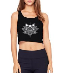 cropped criativa urbana top cropped flor de lótus