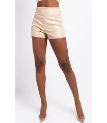 akira a little love faux leather shorts