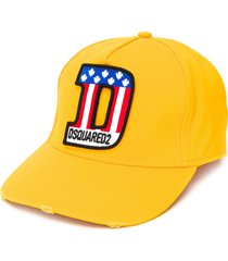 dsquared2 logo patch cap - yellow