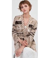 kimono jacquard cotone lino