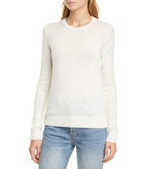 women's theory crewneck cashmere sweater, size large - ivory