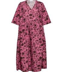 printed cotton poplin dresses everyday dresses rosa ganni