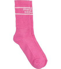 pharmacy industry socks in rose-pink cotton