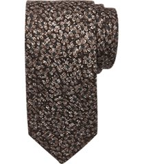 joseph abboud voyager brown floral narrow tie