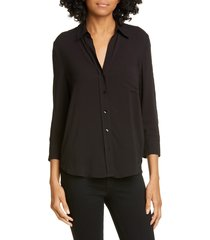 women's l'agence ryan blouse, size x-large - black