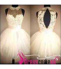 white homecoming dress 2015 new top fashion ball gown summer short prom dresses