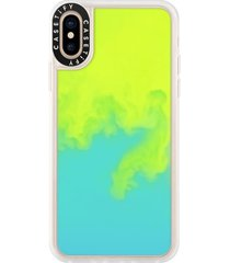 casetify neon sand iphone xs/xr case - green