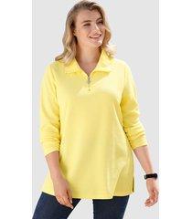 sweatshirt m. collection geel