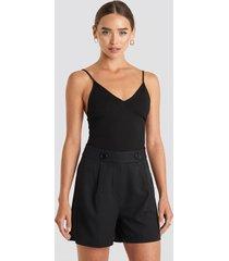 trendyol zipper detailed shorts - black