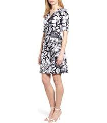 women's tommy bahama buona sera wrap dress, size large - black