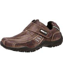 sapatenis tchwm shoes velcro couro - marrom - masculino - dafiti